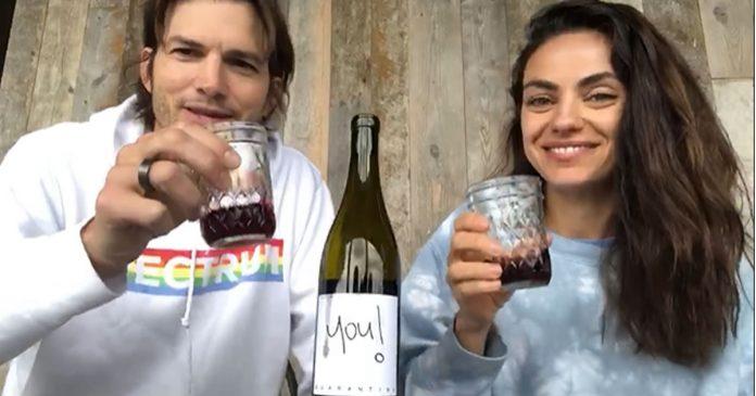 ashton-kutcher-e-mila-kunis-criam-vinho-para-arrecadar-fundos-contra-o-covid-19