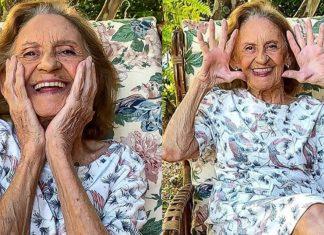 aos-93-anos-laura-cardoso-posa-para-fotos-no-jardim-e-encanta-a-sua-vitalidade